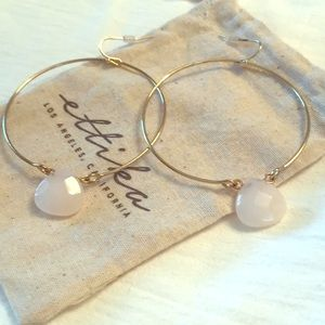 Ettika Gold Hoops with white bead